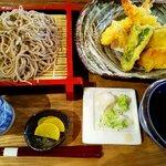 豊後めん処 くんぷう - 天婦羅蕎麦:1000円