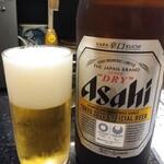 独楽寿司 - ドリンク写真:アサヒスーパードライ中瓶480円(税抜き:以下同)