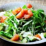 長堀バル& - ジーマミ豆腐とアボカドのサラダ