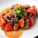 長堀バル& - 牛肉とトマトの雪塩炒め