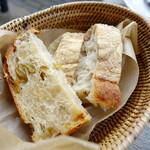 欧風小皿料理 沢村 - お代わりはカゴでサーブしてくれます