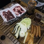 ブッチャー バーベキュー&ビアガーデン - 4500円コースのお肉