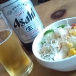 サンサーラ - サラダにビールw