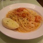 13592885 - ランチ・海老とトマトのチーズパスタ
