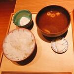 料理家 仄り - ご飯・味噌汁