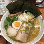 135924945 - 和風柚子柳麺、海苔と味玉トッピング、1000円‼️