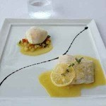 13593747 - 真鯛のヴァプールポーチ・ド・エッグとプロヴァンス風小さな野菜添え