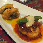 でんぷん - ササミのほうれん草ロール焼き、イタリアン・エビハンバーグ