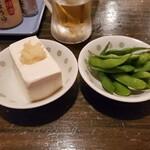 一膳屋 五丈原 - 料理写真:五丈原セット(やっこ、えだまめ)