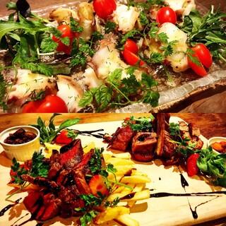 季節の料理や旬の食材で様々な料理をご提供