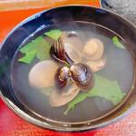 鮨長おおさわ - シジミ澄まし汁