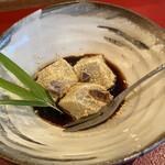 鮨長おおさわ - 最後にデザートわらび餅