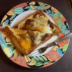 珈琲艇キャビン - ポテトとカレーのオープントースト