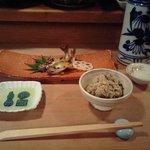 Masuda - 旬のもの、アユの塩焼き。ほろ苦いおいしさ。