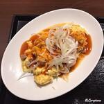 中国料理 空 - 煮豚入り ふわとろ卵の中華風オムレツ
