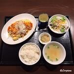 中国料理 空 - 煮豚入り ふわとろ卵の中華風オムレツ ランチセット