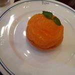 パパス カフェ - 清美オレンジのチーズタルトセット¥1050