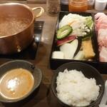 shabushabufuji - 豚しゃぶしゃぶトリプル1200円