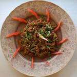 インディアンスパイスファクトリー - Kochur Loti(タロイモの茎の炒めもの)