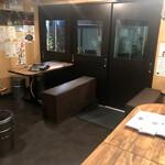 イベリコ豚おんどる焼 裏渋屋 - 入口をセンターに改装し広くゆったりな配置に変化!