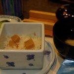 梅の花 - 梅の花膳の飯物と吸い物