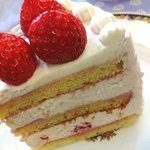 フレンチ パウンド ハウス - 苺のショートケーキ・ルージュ(578円) 拡大