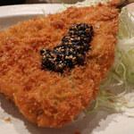 いまがわ食堂 - アジフライ定食(すり胡麻&自家ブレンドまろやかソース)