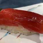 第三春美鮨 - シビマグロ 赤身 99g 腹上二番 延縄漁 青森県大間 熟成7日目