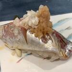 第三春美鮨 - 真鰺 97g 瀬付き 釣 兵庫県沼島