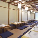 和彩ダイニング 膳 - 2階は、26席の堀こたつ、仕切りあり。宴会など可。