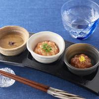 和彩ダイニング 膳 - 珍味3種盛り合わせ(鮪酒盗・このわた・石狩漬け)