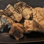 クリームチーズの麦味噌漬け 玄米バケット添え
