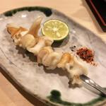 すしの新富 - 石垣貝の串焼き