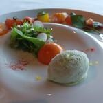 SUD restaurant - アボガドのソルベ