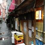 お魚sun - 大井町の風情ある路地にありますよ