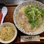 味華 - 料理写真:ゆずしおラーメン +¥290で半チャーハンセット