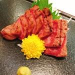 鶴屋 - ・神戸牛炙り刺し(3,650円)