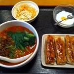 13607463 - 四川担々麺ギョウザセットランチ 780円