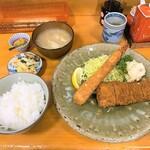 大関 - 料理写真:大関@塩釜 えびフライ・ひれかつ定食(1430円) 2020年2月