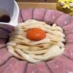 マルヨシ製麺所 - 出汁醤油をかけて、いただきます