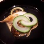 136092853 - ⚫松茸  玉子豆腐  石垣貝のお椀