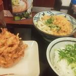 丸亀製麺 - かけうどん 野菜天 ライス