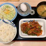 松屋 - 豚キムチ定食 ¥730