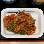松屋 - 豚キムチ定食 ¥730 の豚キムチ