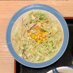 松屋 - 豚キムチ定食 ¥730 の生野菜