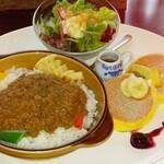 ル シエル クレム - サニーディッシュプレート(粗挽き牛肉のキーマカレー、ライス大盛)