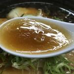 麺哲 - スープ