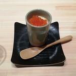 136115210 - お通し(380円)はイクラの茶碗蒸し