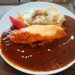 ぽんぽこキッチン - 料理写真:オムハヤシ1080円