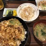 天七 - 料理写真:えび天丼(竹)1,100円